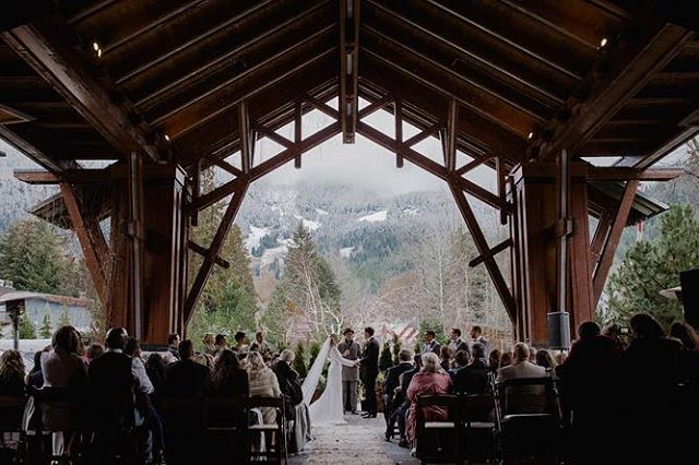 "Nita Lake Lodge, you are almost as magical as this ""I do"" moment. 💍  Floral Decor Design & Planning: @bluevioletevents  Photography & Videography: @hereandvowstudio  Venue: @nitalakelodge Linen: @fairelafetelinen  Officiant: @whistler_weddingpastor  Decor: @celebrateevents_decor . . . . . . #vancouverweddingphotography #vancouverweddingvideography #whistlerweddings #vancouverwedding #nitalakelodge #vancityweddings #photobugcommunity #junebugweddings #winterwedding #whistlerweddingphoto #wedluxe #nitalakewedding #dreamweddingshots #vancouverweddings"