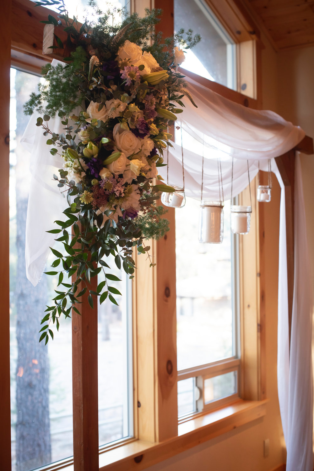 Custom Arbor Arrangements and creations by Bend Floral Artistry. Sunriver Oregon private residence. Photo by:  WildTeacup.com  Jennifer Whelan