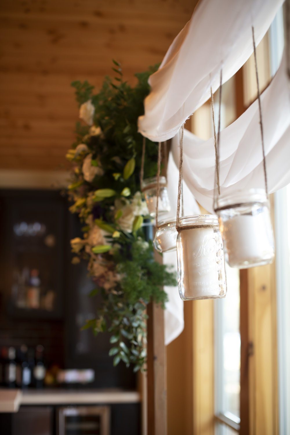 Custom Arbor Arrangements and Floral Creations by Bend Floral Artistry. Sunriver Oregon private residence. Photo by:  WildTeacup.com  Jennifer Whelan
