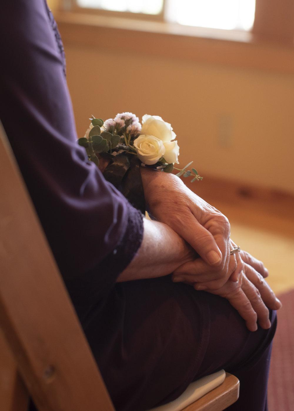 Bend Floral Photo Wild Tea Cup - Family Flowers - Wrist Corsage - Sunriver.JPG