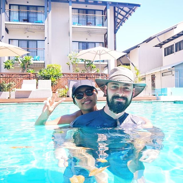 Mr. Nevertheless and I are celebrating 9 years of marriage today ❤️ 16 years of being together with my kind, loving and supportive husband 😘 I couldn't have asked for a better partner in crime... I mean... life 😇  This was this time last year in Broome, I wish I was back at @kimberleysandsresort 😭☀️