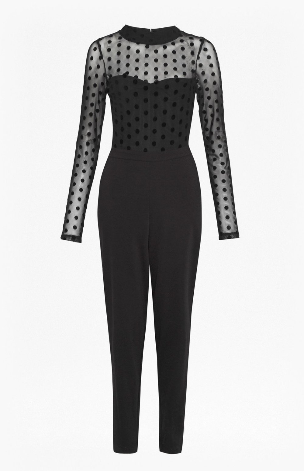 Leah mesh high-neck jersey jumpsuit by  French Connection