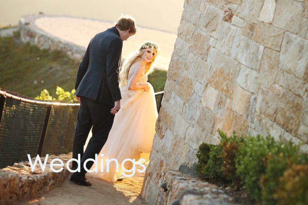 Wedding photo of a couple at Malibu Oaks wedding venue.  Click through for wedding gallery of photos.