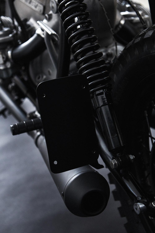 Custom Shock Mounts / License Plate