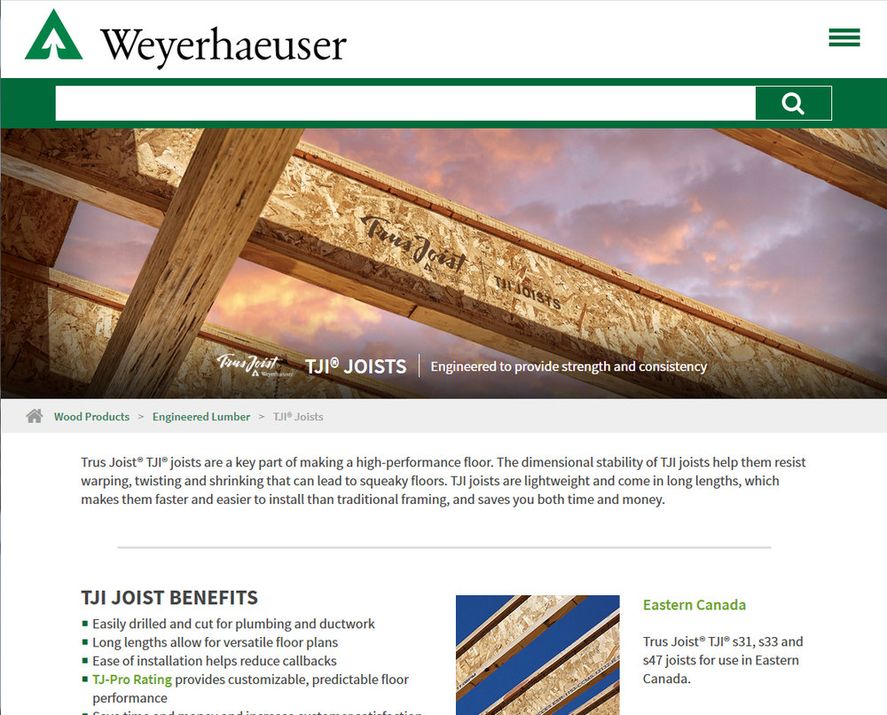 https://www.weyerhaeuser.com/woodproducts/engineered-lumber/tji-joists/