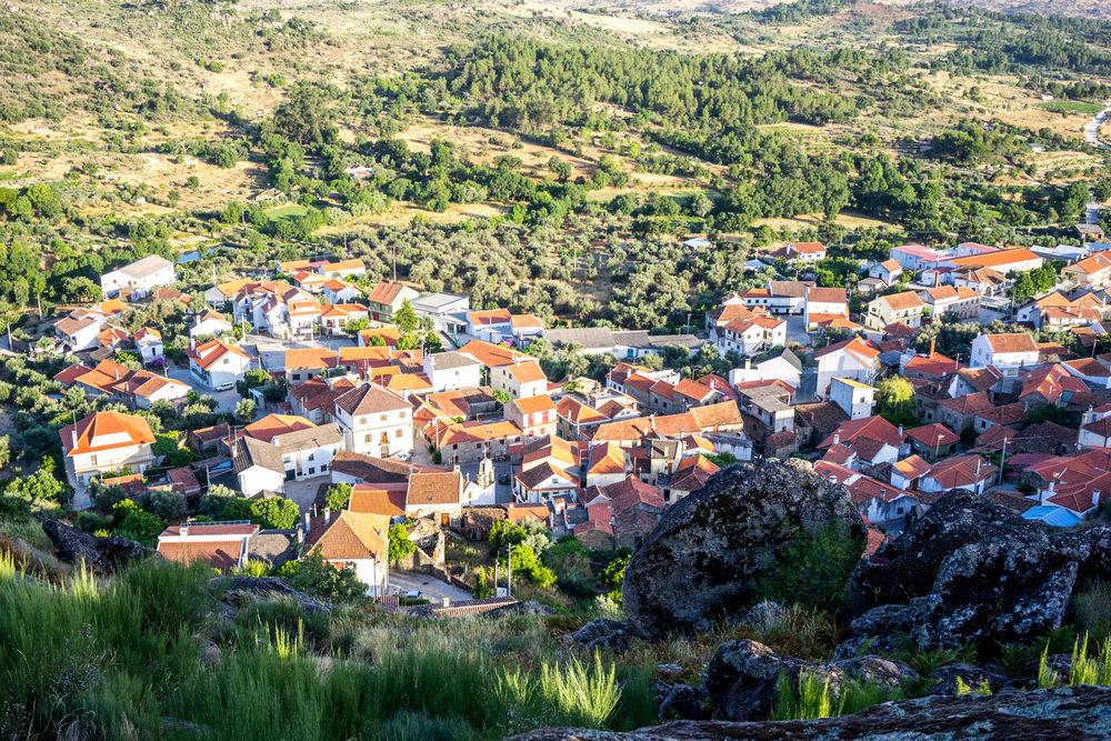 A Bendada vista da Serra de Nossa Senhora do Castelo.