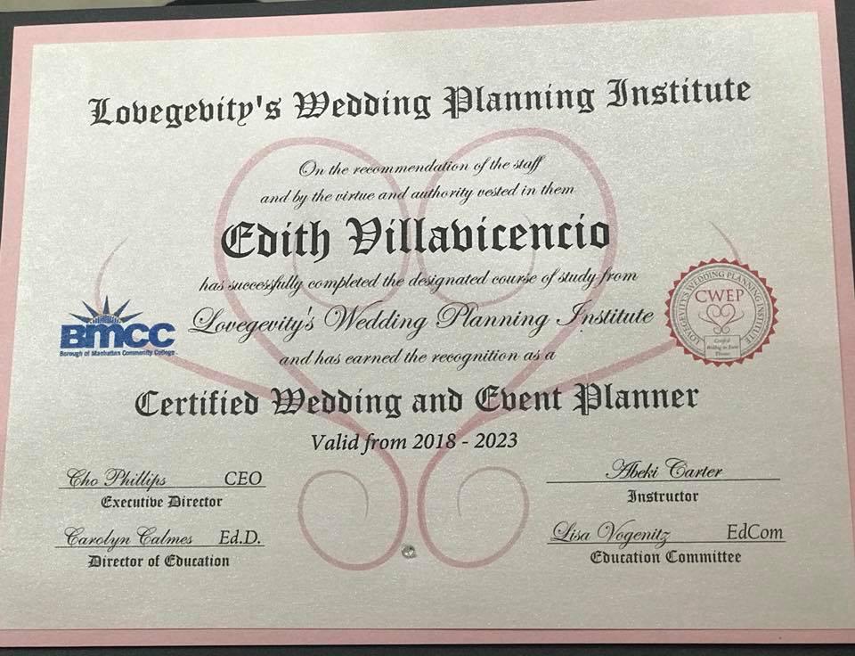 glamurosa wedding planner & floral design