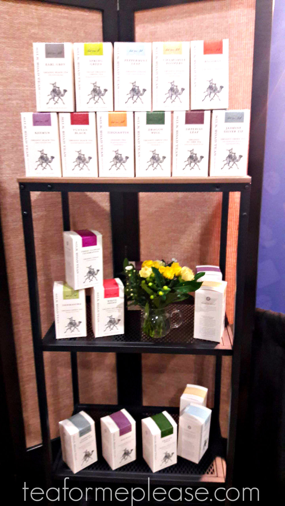 Another attractive display from Silk Road Teas