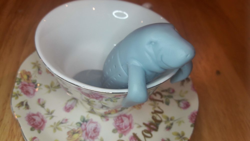 She also gave me an adorable tea infuser shaped like a manatee.