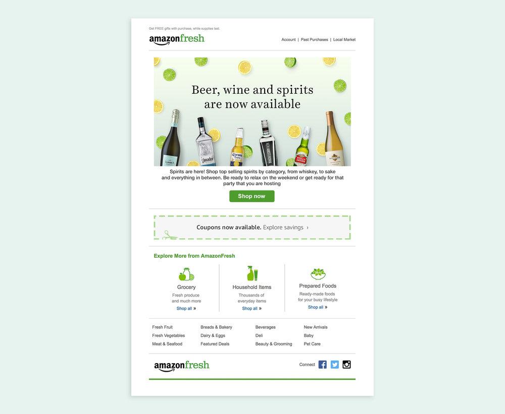 AmazonFresh Alcohol Launch — Christie Lo