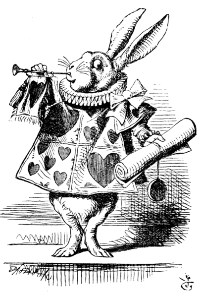 John Tenniel, The White Rabbit, illustration for 'Alice in Wonderland' by Lewis Carrol
