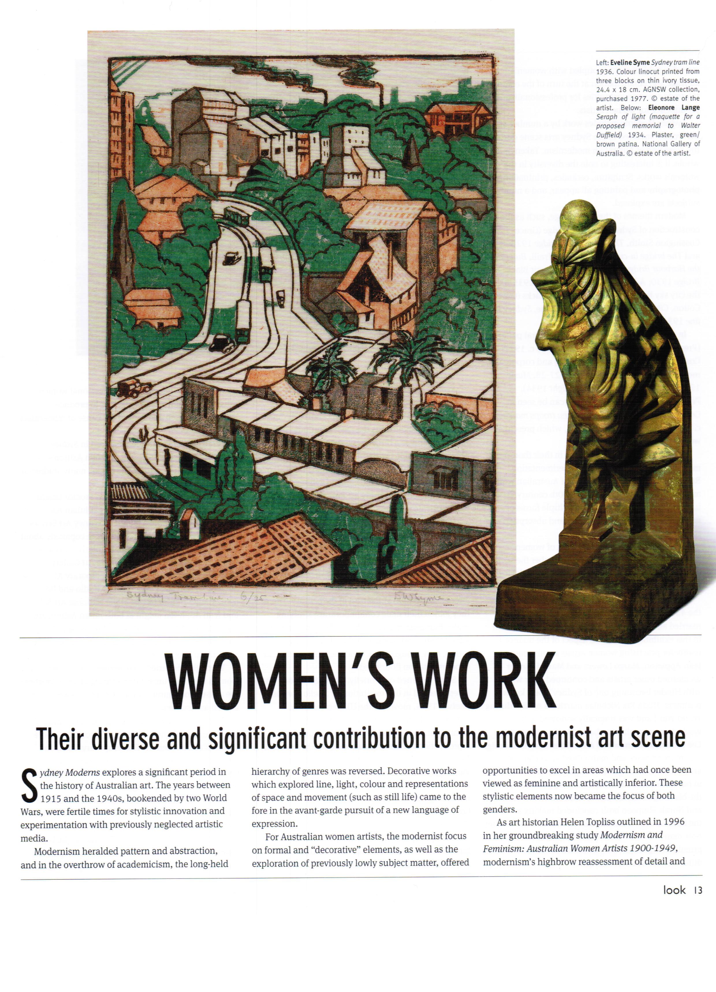 Women's Work p1 - Look August 2013
