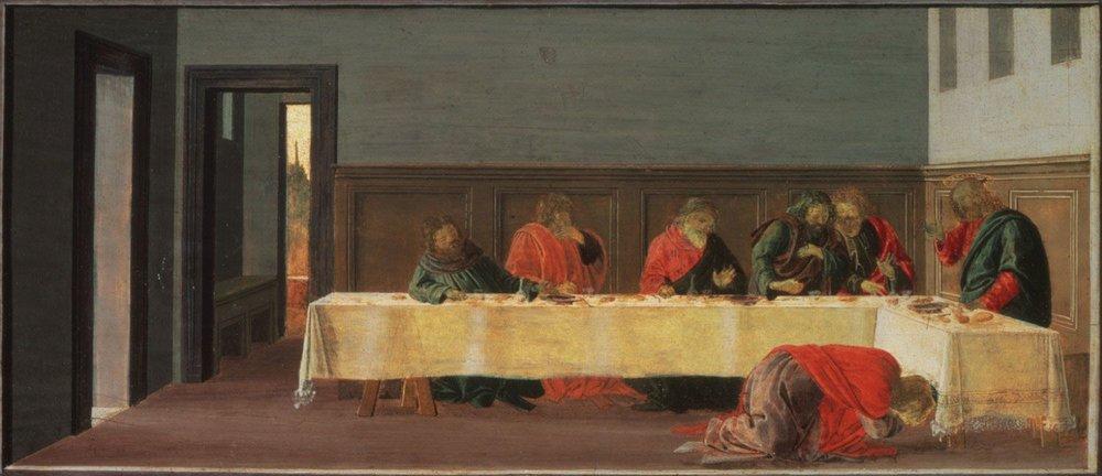Sandro Botticelli,  The Feast in the House of Simon ,c. 1494, tempera on panel. Collection of Philadelphia Museum of Art, Philadelphia
