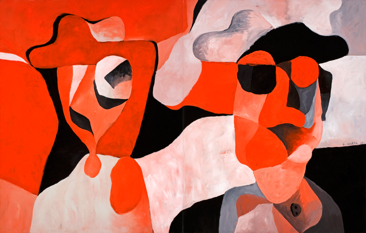Antonio Malta Campos 'Figures in Red,' 2004, oil on canvas, 230 x 360 cm (Image Courtesy of the Saatchi Gallery, London)