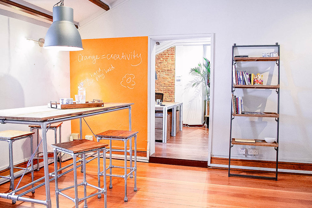 Industrial Style Exposed Brick Bright Office