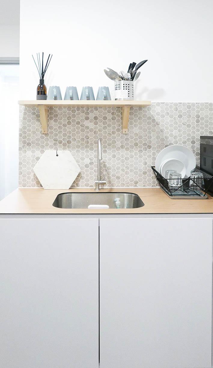 Beautiful Bright Modern Kitchen Tiles
