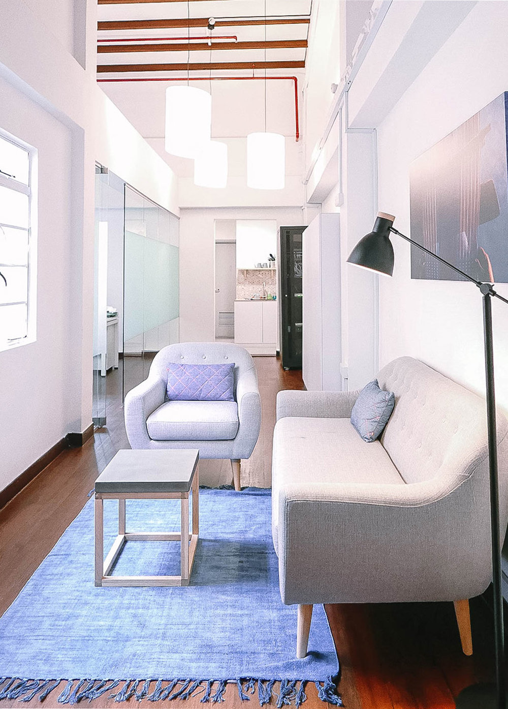 Bright Minimal Modern Office Lounge