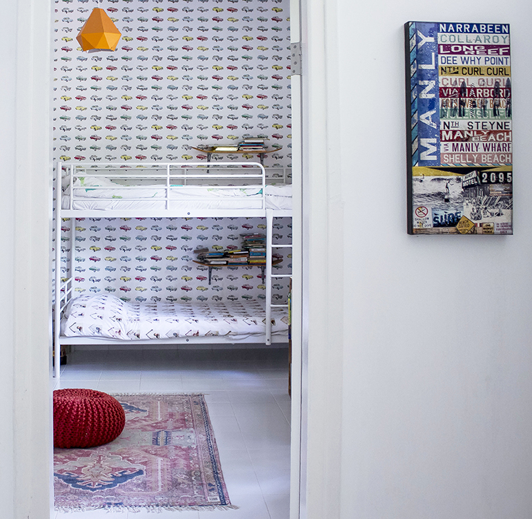 Bright Airy Kids Room Bunk Beds