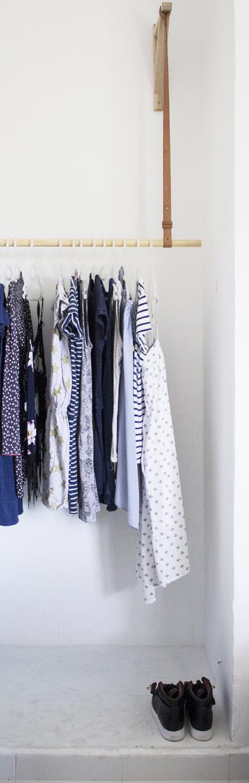 Simple Leather Hanging Wardrobe