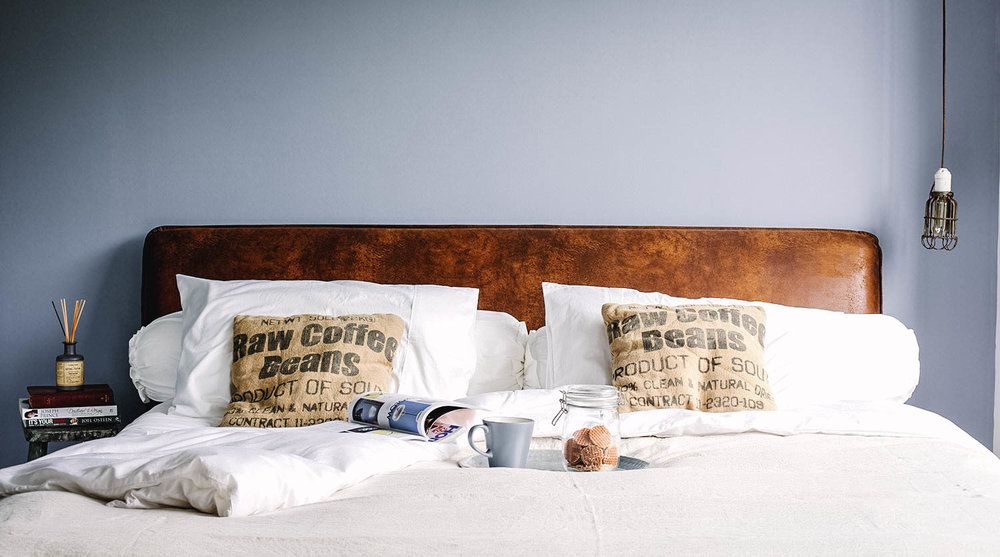Industrial Interior Style Bedroom Leather Muted