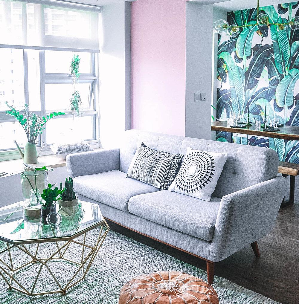 Bold Fun Stylish Living Room Interior Design