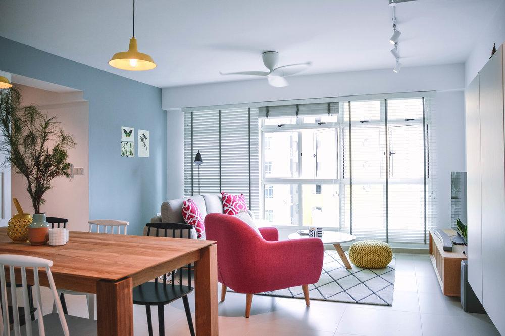 Bright Colourful Fun Living Room Apartment