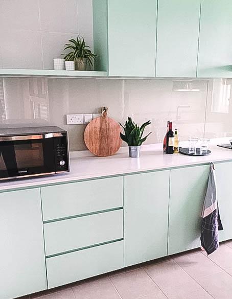 Stunning Pastel Kitchen Cupboards