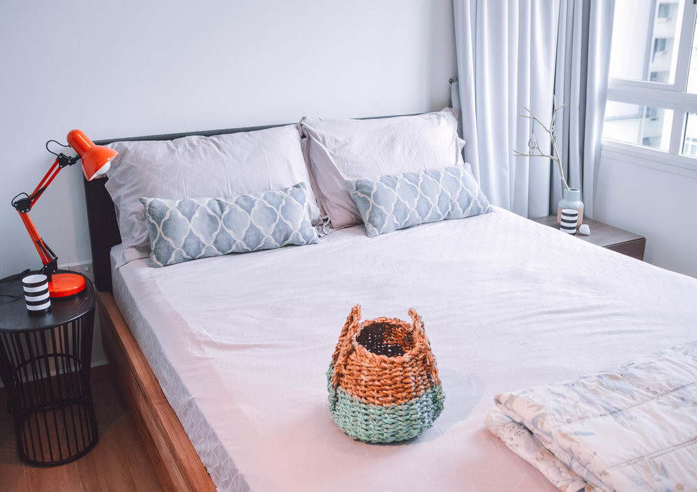Simple Bright Bedroom Decor