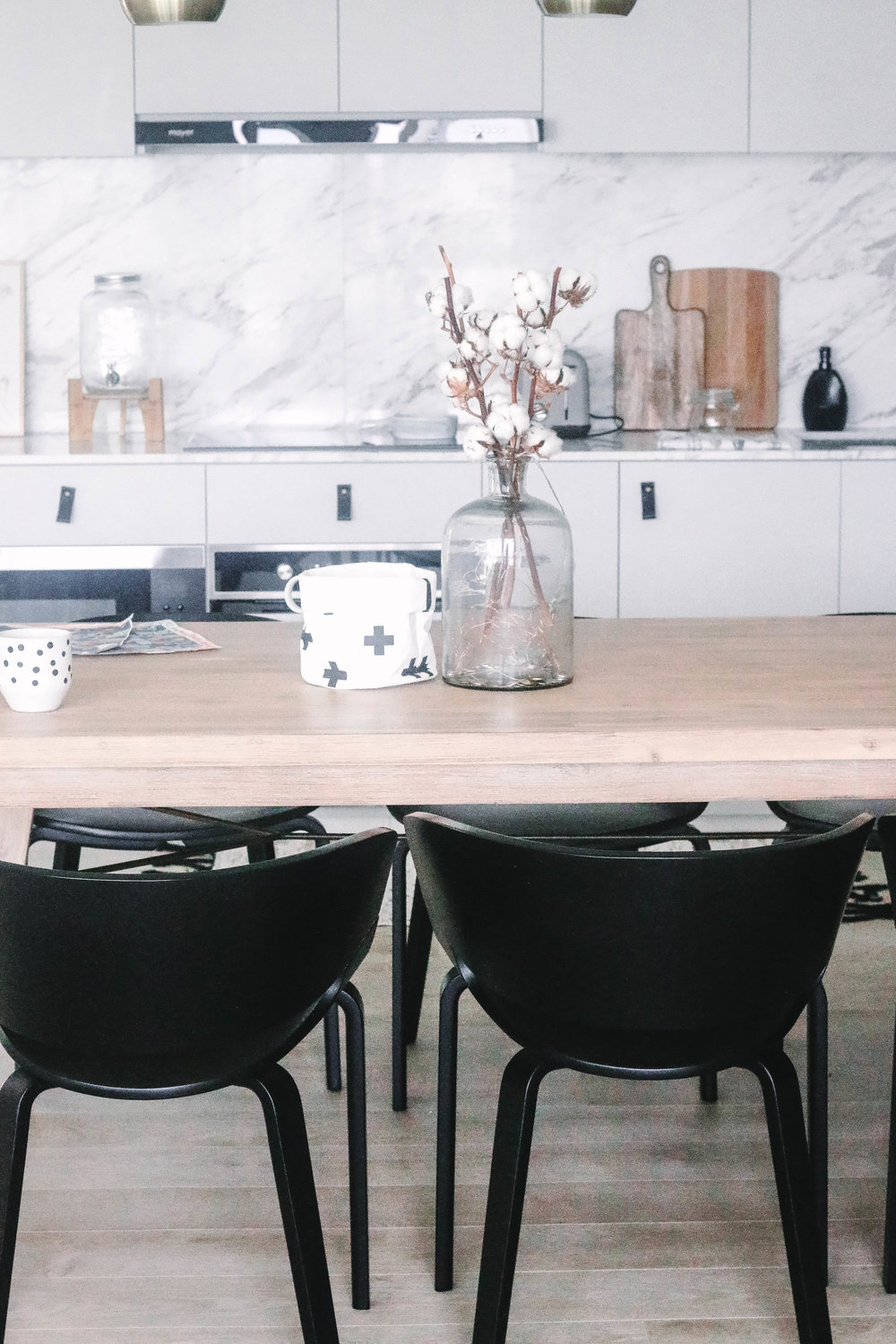 Scandinavian Inspired Kitchen Dining Table