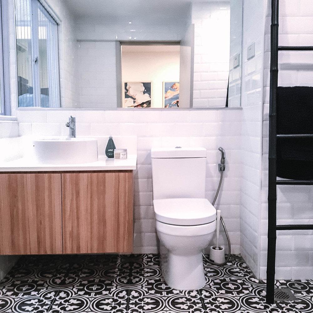 Family Bathroom Stylish Floor Tiles