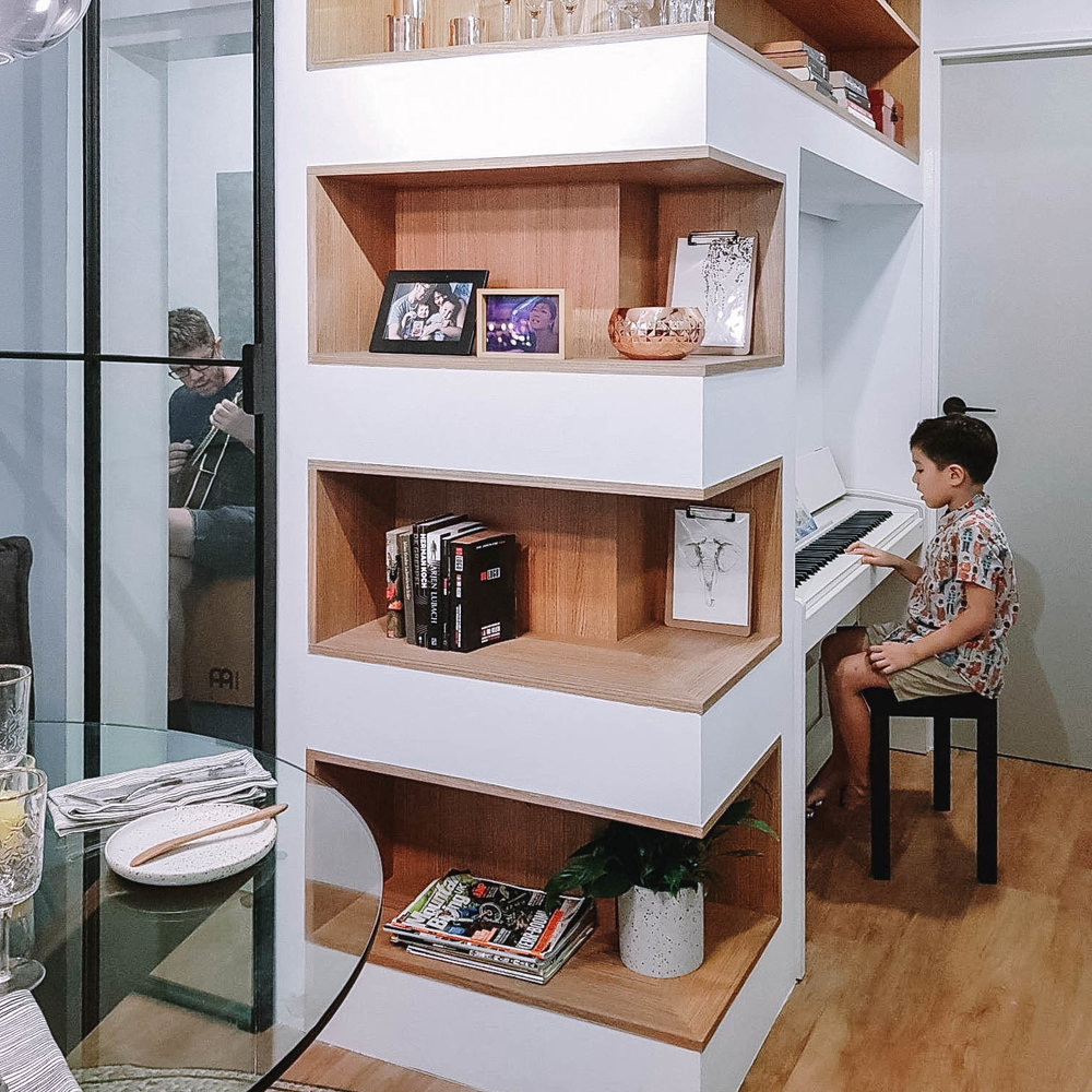 Apartment Interior Design Storage Shelving