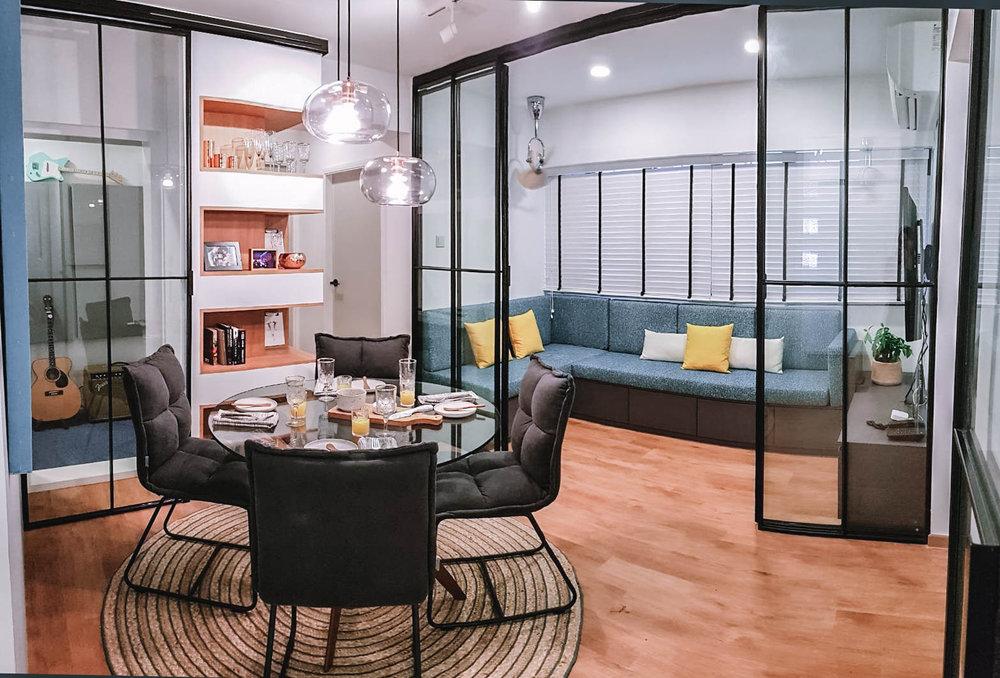 Apartment Wooden Floor Open Save Living Area