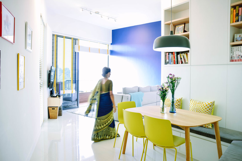 Bright Colourful Modern Apartment Living Room