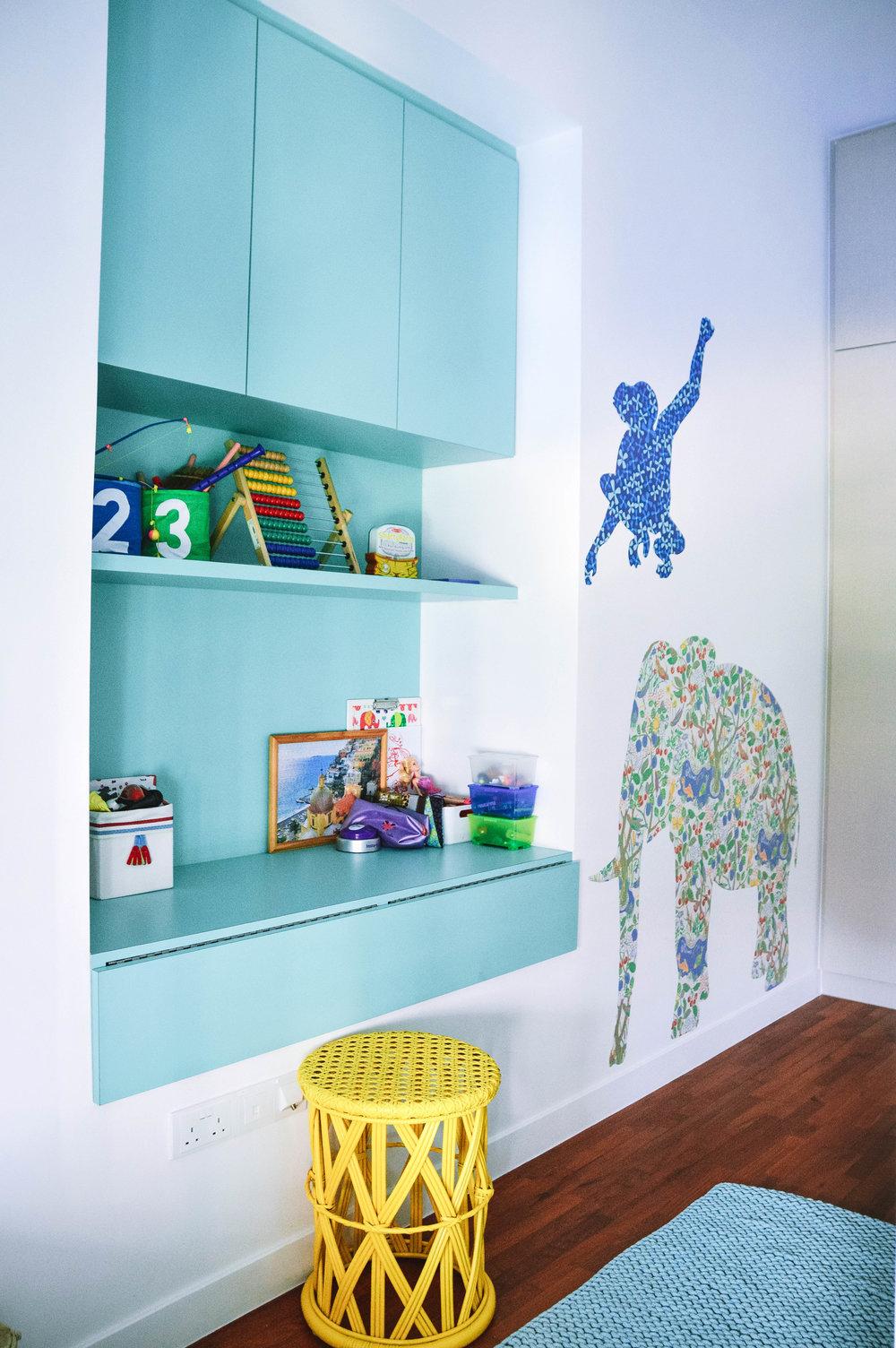 Kids Bedroom Colourful Storage Inspo