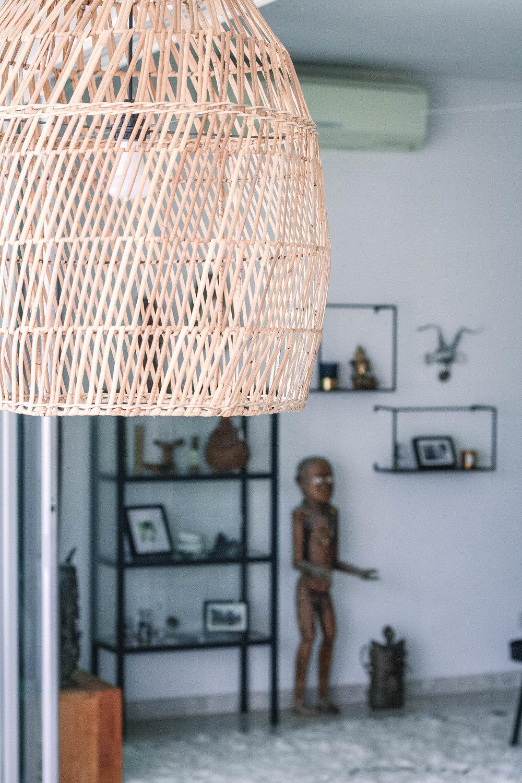 Rattan Light Pendant Modern Home
