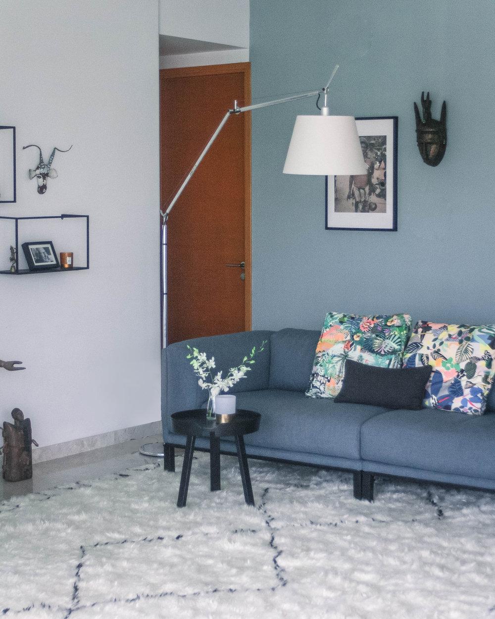 Fluffy Rug Modern Fusion Apartment Design