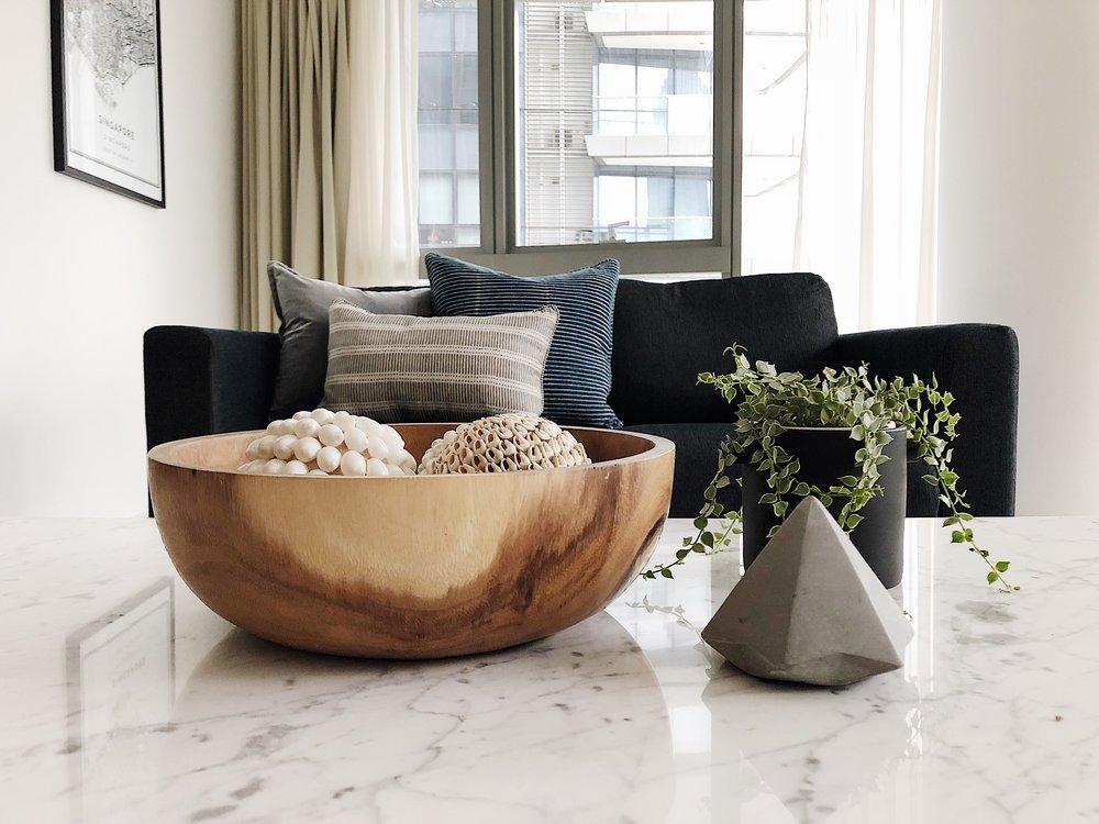 Turn Key Living Room Marble Coffee Table