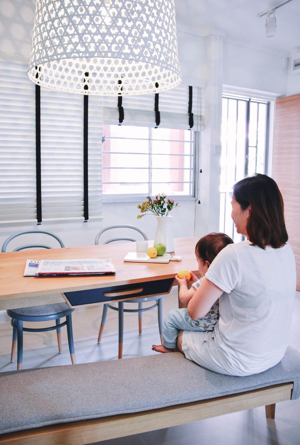 Bright Minimal Dining Room Interior design