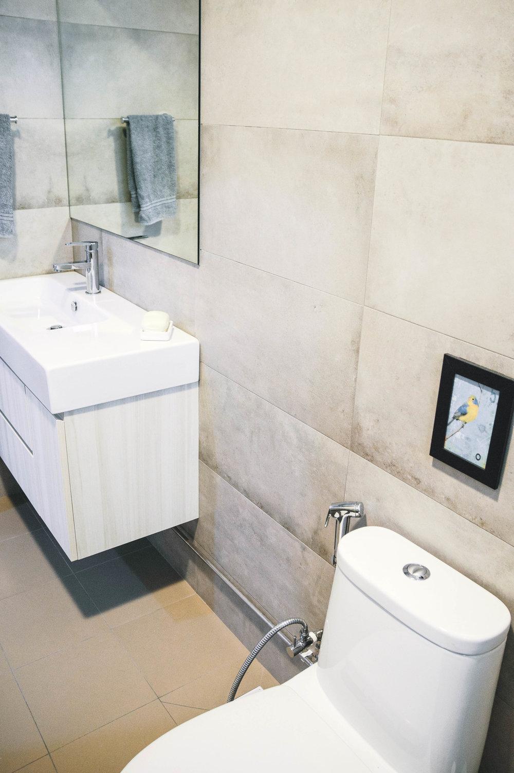 Renovated Stylish Small Bathroom Design