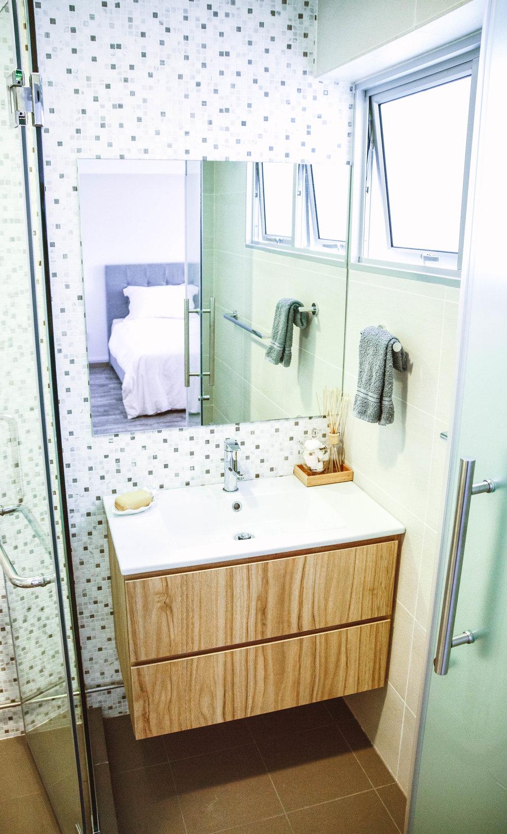 Bright Small Bathroom Design