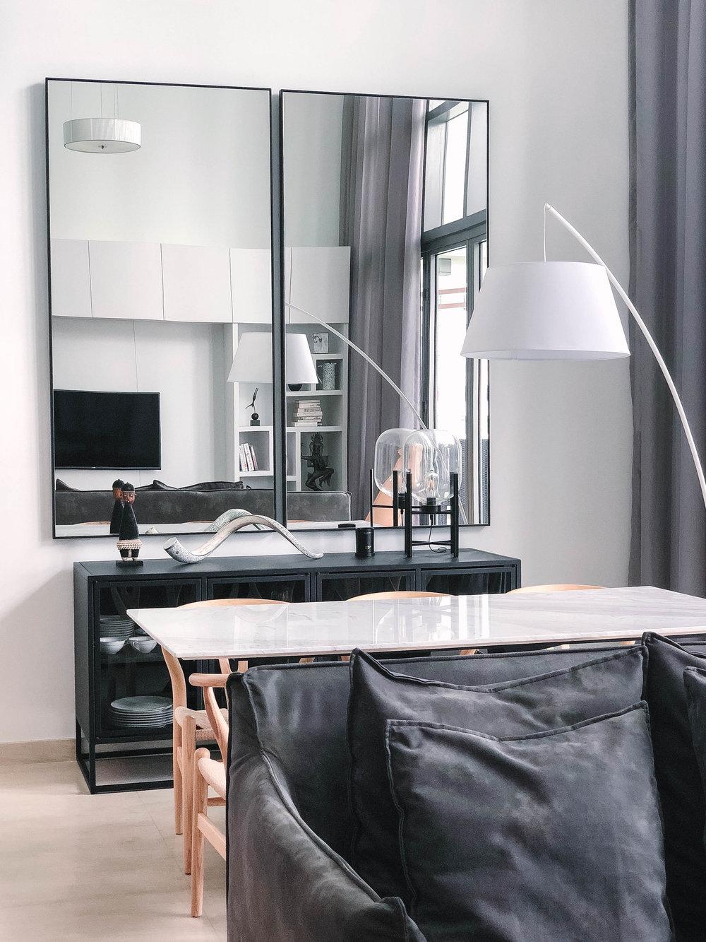 Giant Mirror Living Room
