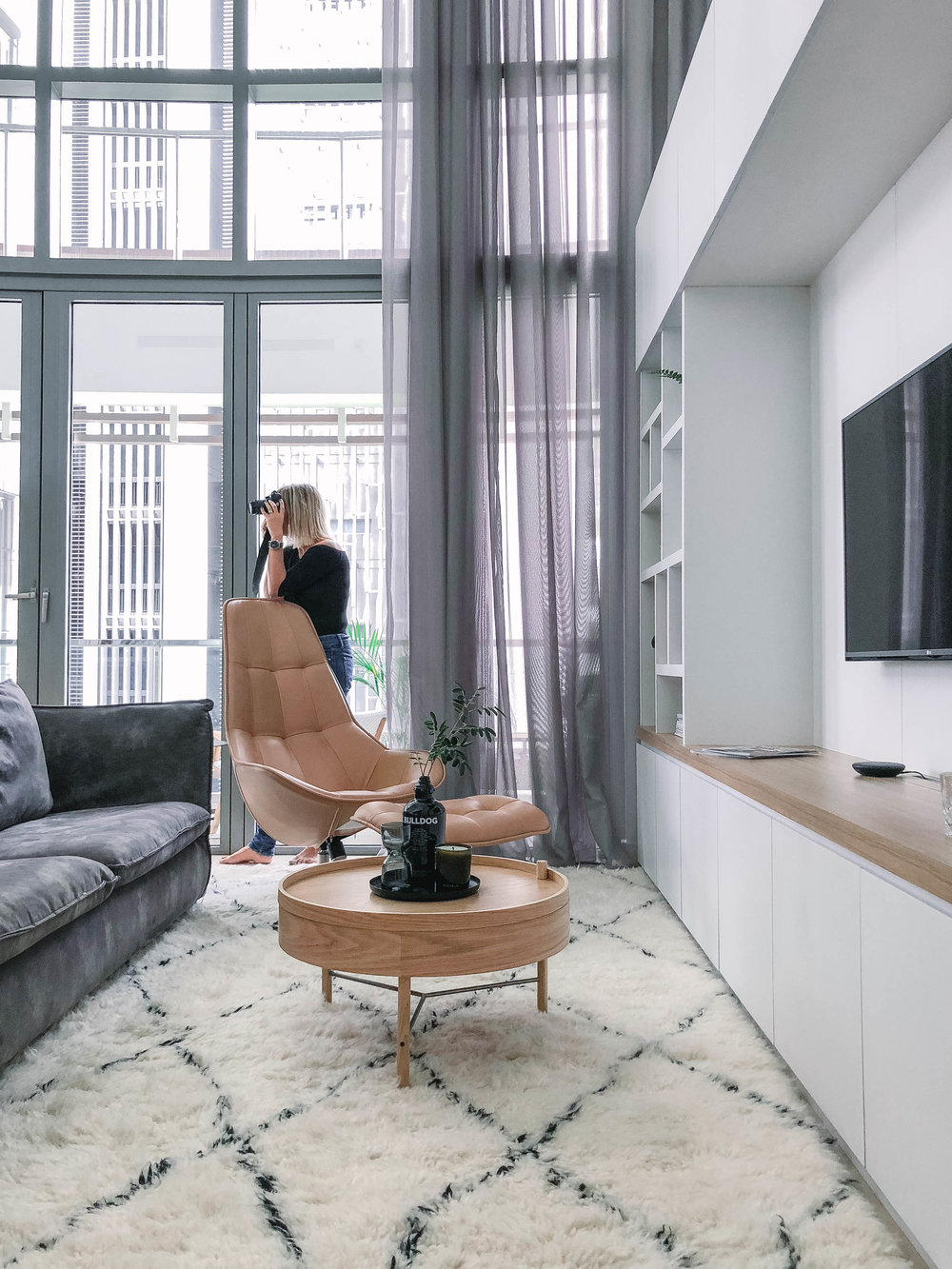 Clean Minimal Japanese Style Living Room