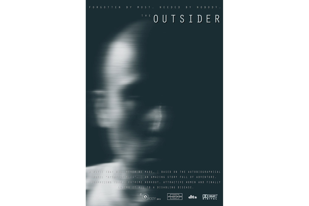 OUTSIDER  (2013)  The poster for an imaginary movie.