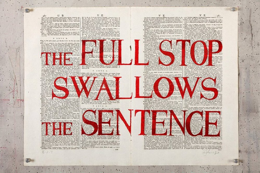 The Full stop Swallows the Sentence