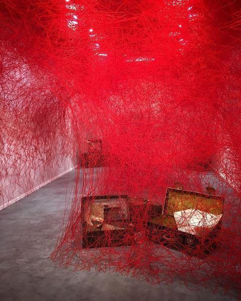Installation Chiharu Shiota for Blain Southern
