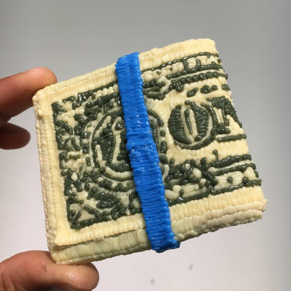 Money Wad,Actual Size, PLA Plastic, 2018