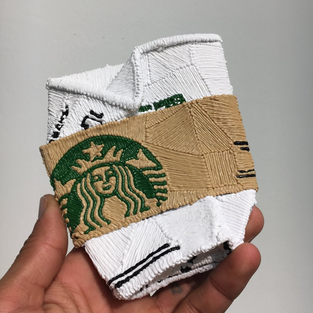 Starbucks Cup,Actual Size, PLA Plastic, 2018