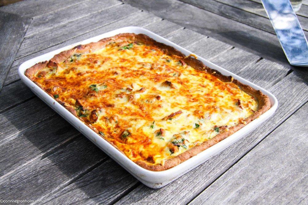Enkelt recept på vegetarisk kantarellpaj