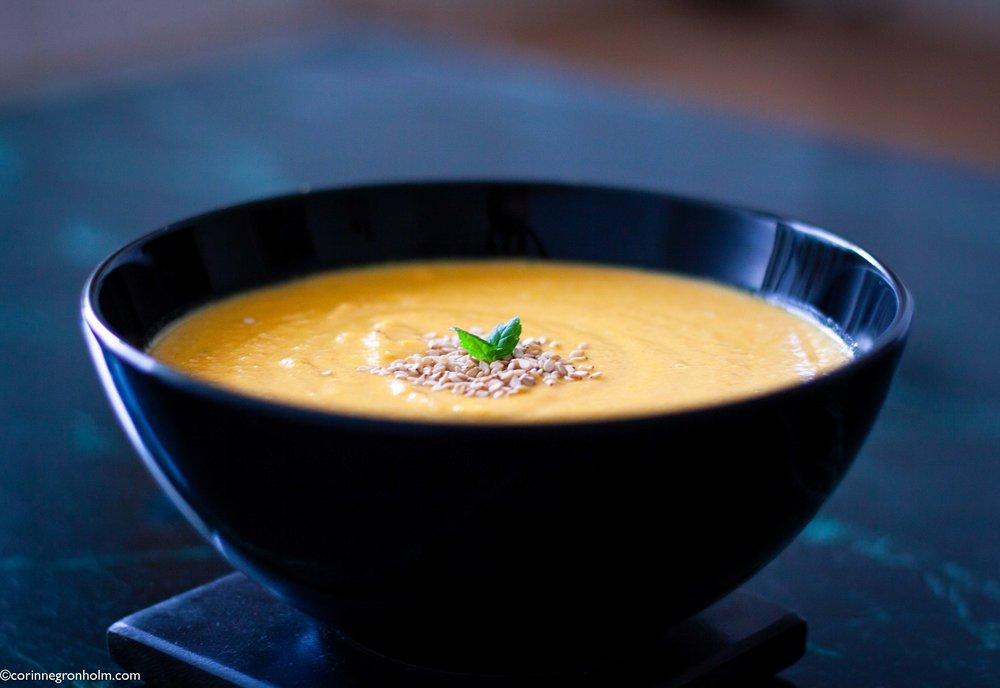 Vegansk linssoppa