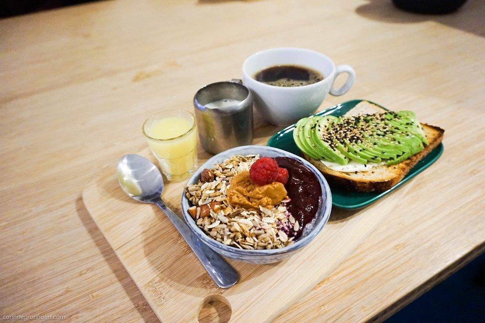 God frukost på Café Kuuma i Helsingfors